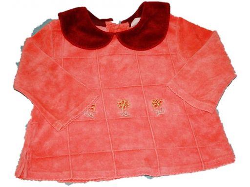 Karen *- welurowa bluzeczka -12 - 18 miesięcy