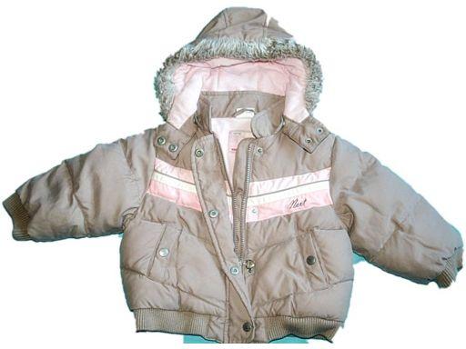 Next *- beżowa ciepła kurtka - 2-3 lata