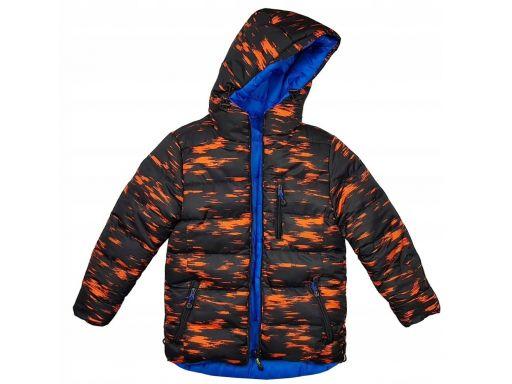 Zimowa pikowana kurtka nord husky r 122 cm orange