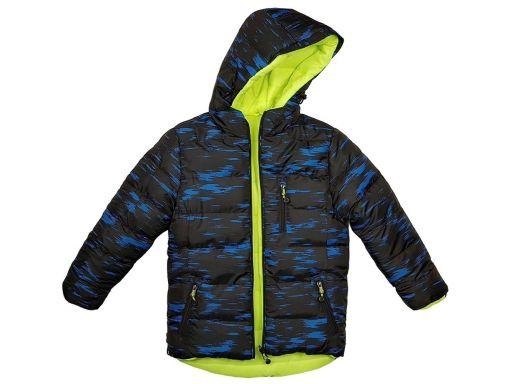 Zimowa pikowana kurtka nord husky r 116 cm blue