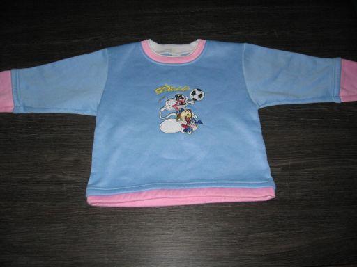 L&h bluzka dresowa z aplikacją r.116 | *6584