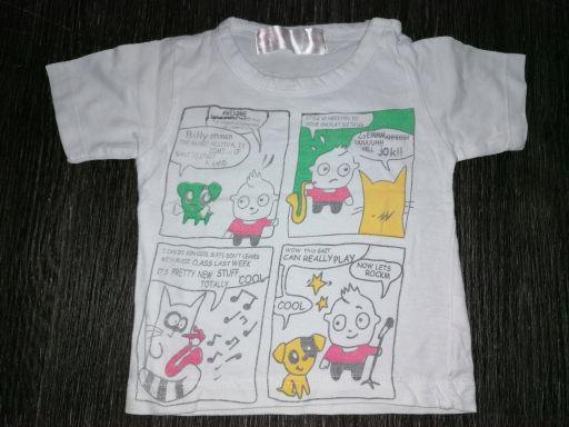Fox bluzka koszulka z komiksem r.56 ubranka *7108