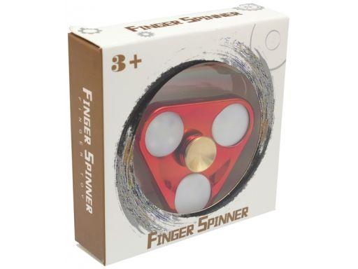 Aluminiowy hand fidget spinner spiner led świecący