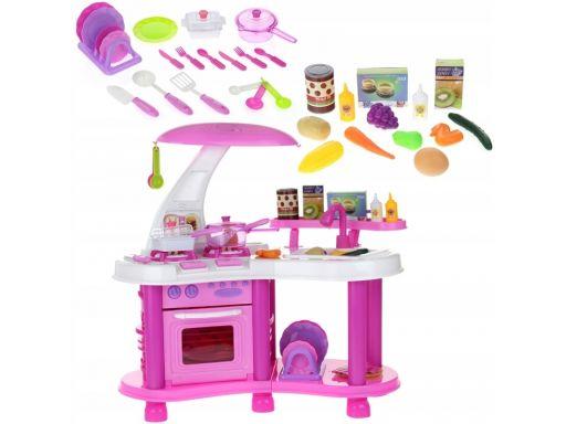 Duża kuchnia kuchenka dla dzieci piekarnik różowa
