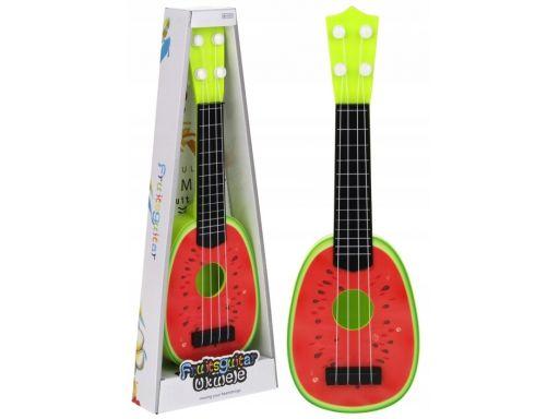 Gitara ukulele dla dzieci owocowa arbuz 36 cm