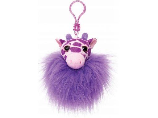 Russell pompon zawieszka brelok fioletowa żyrafa
