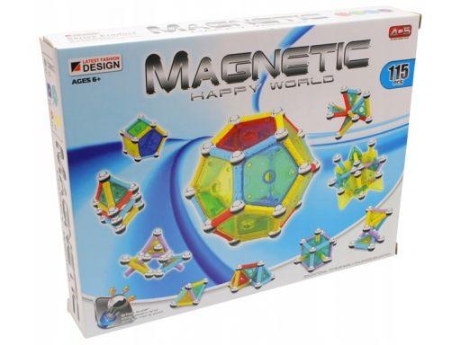 Magnetyczne klocki konstrukcyjne 3d panele 115 el.