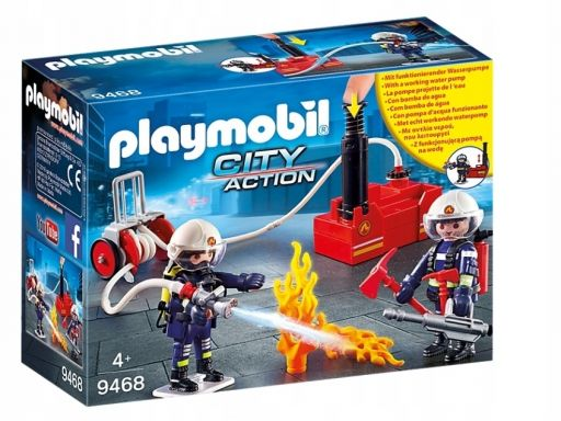 Klocki playmobil strażacy z gaśnicą 9468