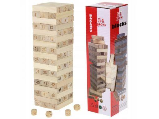 Gra jenga drewniana układanka chwiejąca wieża