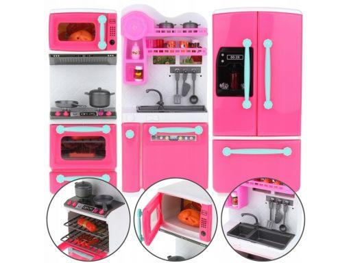Kuchnia dla lalek meble lodówka piekarnik dźwięk
