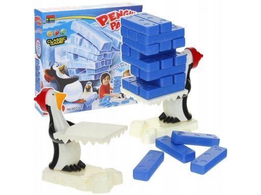 Jenga wieża panika pingwinów gra zręcznościowa
