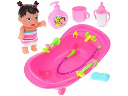 Lalka w wanience do kąpieli wanienka akcesoria