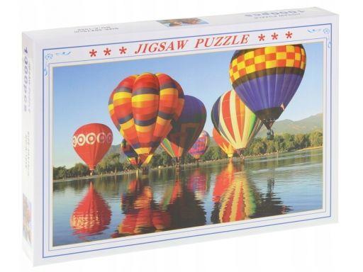 Puzzle 1000 el. kolorowe latające balony góry