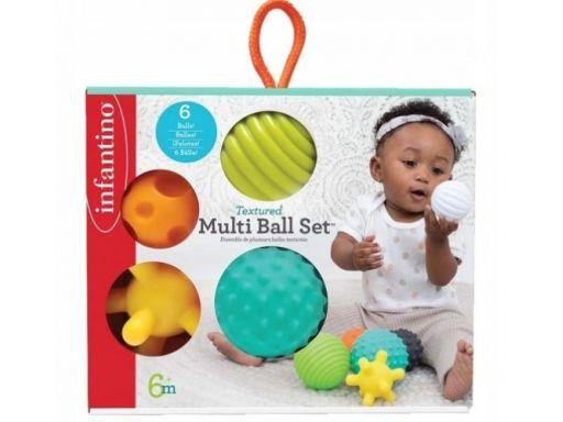 Infantino sensoryczne miękkie piłki zestaw 6sztuk