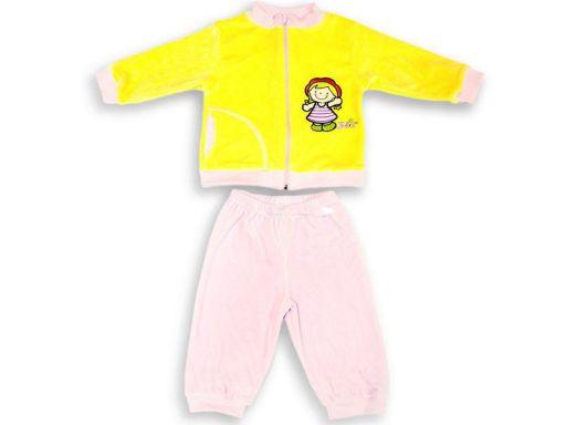 Dres welurowy dla dziecka spodnie bluza julia 92