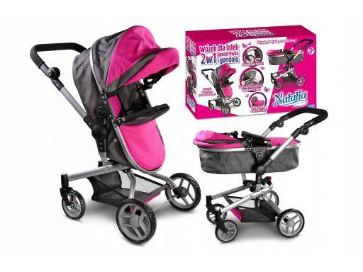 Natalia wózek dla lalek 2w1 spacerówka gondola