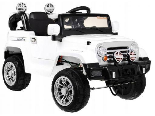 Auto na akumulator jeep terenowy z amortyzatorami