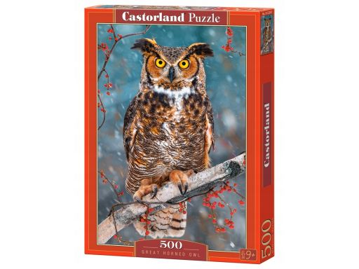 Puzzle 500 great horned owl sowa castor