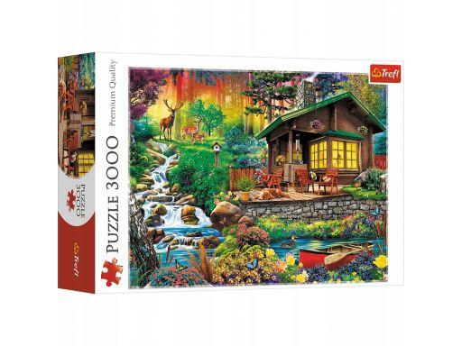 Puzzle trefl chatka w lesie 3000