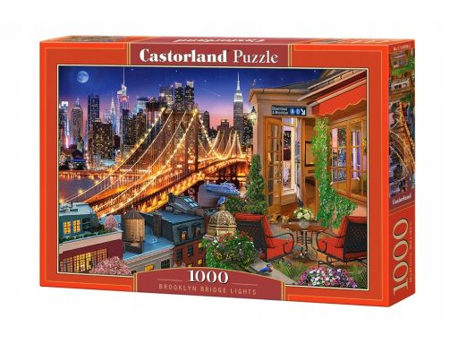 Puzzle 1000 brooklyn bridge lights castor