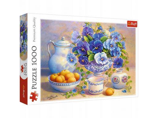 Puzzle 1000 niebieskie kwiaty trefl