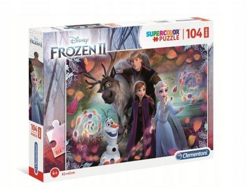 Puzzle 104 maxi super frozen 2 anna elsa sven