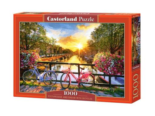 Puzzle 1000 amsterdam with bicycles rowery castor