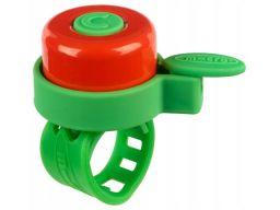 Micro dzwonek do hulajnogi rowerka zielono-czerwon