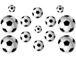 Naklejki na ścianę piłka nożna piłki + gratisy