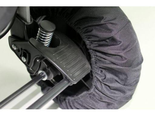 Pokrowce na koła do wózka 4szt średnica 28-36 cm