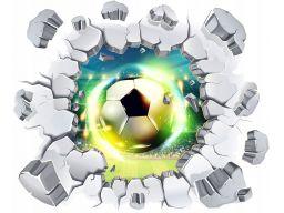 Naklejki na ścianę 3d piłka nożna piłki 3d 144cm