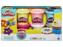 Ciastolina play-doh 6-pack z konfetti b3423