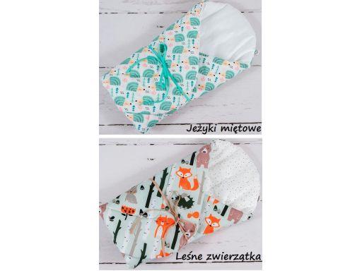 Rożek becik otulacz niemowlęcy usztywniany bawełna