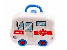 Zestaw mały doktor lekarz lekarski walizka lekarza