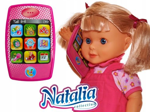 Natalia lalka chodząca ze smartfonem pl eng