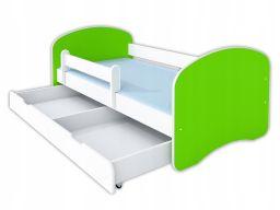 Łóżko happy ii szuflada i materac 160x80 - limonka