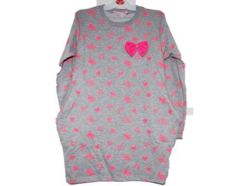 C'est la vie * śliczna neonowa sukienka tunika 4 l