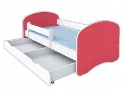 Łóżko happy ii szuflada i materac 160x80 - róż