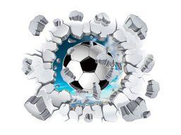 Naklejki na ścianę 3d piłka nożna piłki 3d 100cm