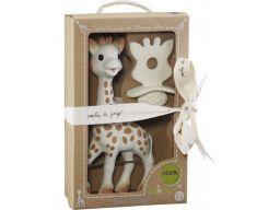 Zestaw gryzak żyrafa sophie + gryzak z kauczukowca
