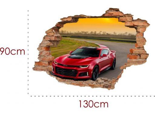 Naklejki na ścianę 3d samochody jeep auta 130x90cm