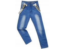 Spodnie jeansy gk famous 12 ok. 146 + szelki