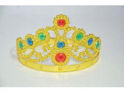 Korona księżniczki złota do stroju karnawałowego