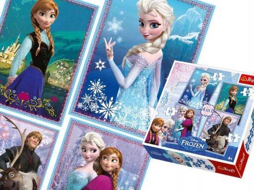 Ch puzzle trefl 4w1 35,48,54,70 frozen kraina lodu