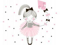 Naklejka dziewczynka latawiec baletnica 130x105cm