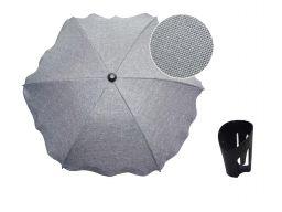Uniwersalna parasolka melanż len + uchwyt na kubek