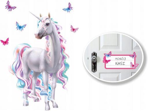 Jednorożec unicorn naklejki na ścianę 180cm koń