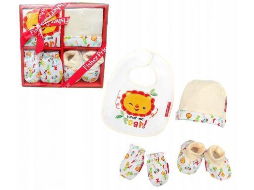 Zestaw prezentowy niemowlęcy 4 części 100% bawełna