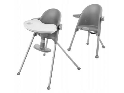 Kinderkraft krzesełko do karmienia pini szary