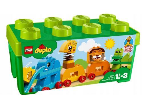 Lego duplo klocki pociąg ze zwierzątkami 18m+